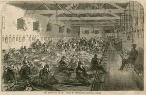 coldbath house of correction prisoners reading in dorm