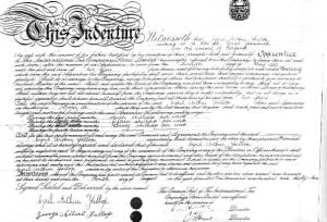 Apprenticeship Indenture paper for Cyril Yallop, Great Yarmouth
