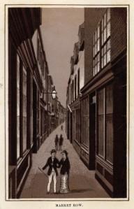 Market Row, Great Yarmouth where 2 boys broke into Mr Cohen's shop. Courtesy Norfolk County Council