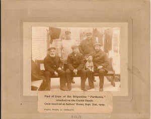 Shipwrecked sailors, Great Yarmouth Sailors' Home, 1909