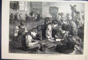 Boys sewing Metropolitan School