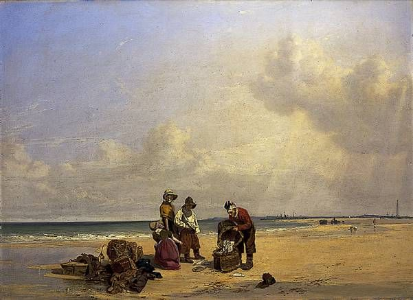 Painting, 'Yarmouth Sands' by Joseph Stannard (1797-1830), oil on mahogany panel, 1829; 75.2 x 102.8 cm. Norfolk Museums and Archaeology Service