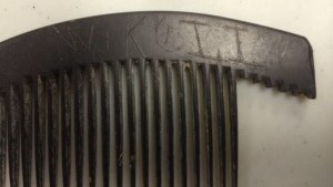 Combs have rarely survived. They are intimate, personal items we do not pass on. Someone scratched their name into this comb, found by the Boston Archaeological Project.