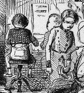 Detail: John Leech, Sketch from Punch 1849: How to make the culprits comfortable; or, hints for Prison Discipline