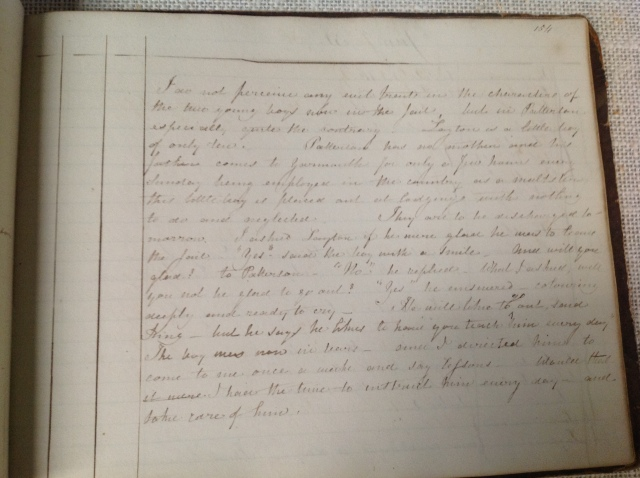 Sarah Martin's Every Day Book, 30 January 1840, Tolhouse Museum, Great Yarmouth Museums Services