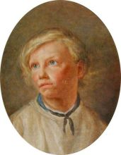 Hospital Schoolboy, Great Yarmouth, 1840 by Thomas Chevalier Date painted: c.1840 Oil on paper, 44.5 x 35 cm, Great Yarmouth Museum Services