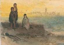 turner yarmouth c. 1840 with 3 boys