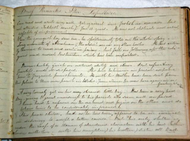 The prison visitor's notes on Abraham and William, 2nd and 3rd entries