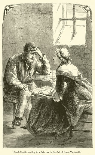 Sarah Martin reading to a Prisoner in the Jail of Great Yarmouth