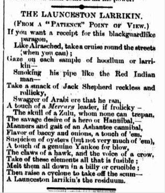 Launceston Larrikin Telegraph 17 Nov 1882 p1