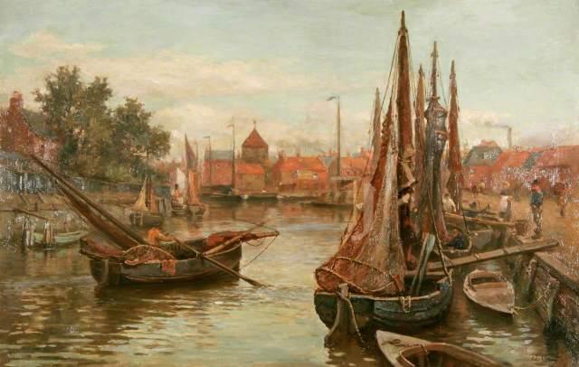 Verey, Arthur, 1840-1915; Shrimpers on the Bure